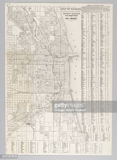City of Chicago Map 1863