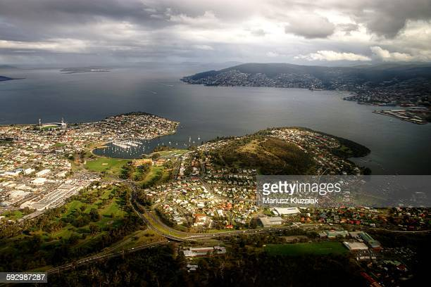 City of CLarence and Hobart bay aerial view