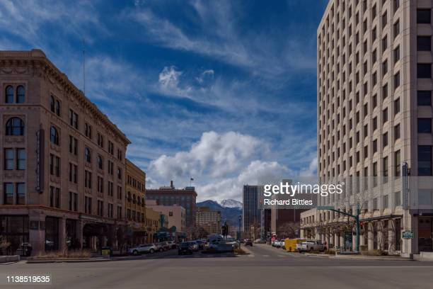 city of colorado springs - colorado springs stock pictures, royalty-free photos & images