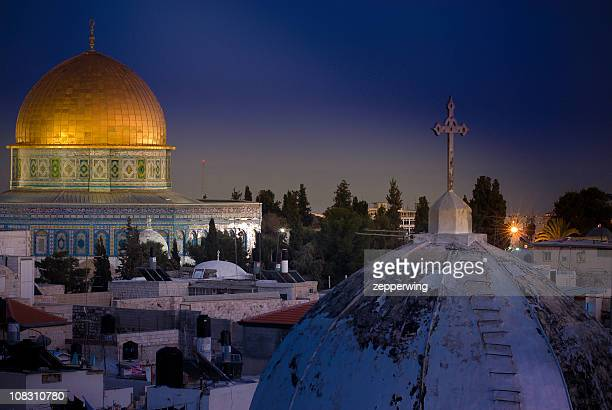 city of contrasts - dome of the rock stock pictures, royalty-free photos & images