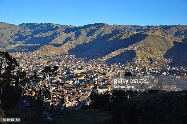 City of Cusco, Peru and Andes Mountains