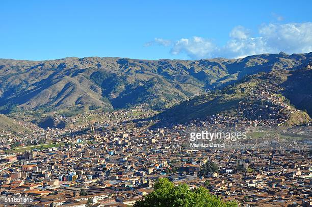"""city of cusco, peru and andes mountains - """"markus daniel"""" stock pictures, royalty-free photos & images"""