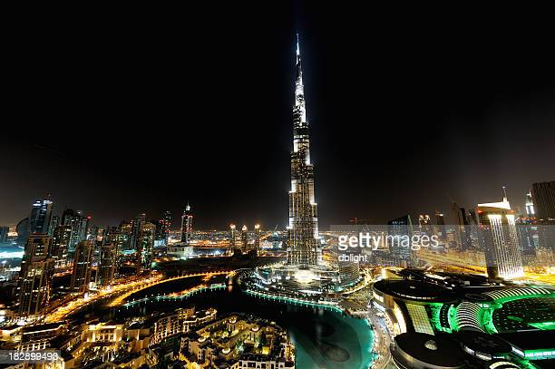 city of dubai at night