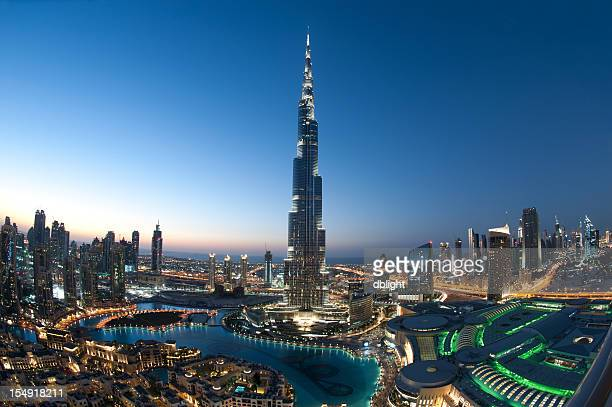 city of dubai burj khalifa - dubai stockfoto's en -beelden
