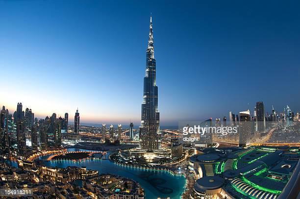 ciudad de dubai burj khalifa - dubái fotografías e imágenes de stock