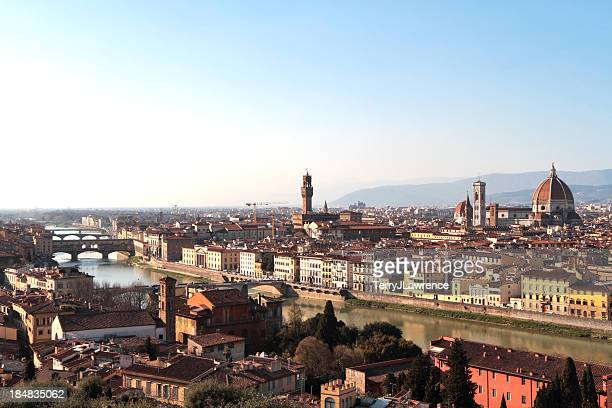 city of florence from san miniato al monte, italy - san miniato stock pictures, royalty-free photos & images