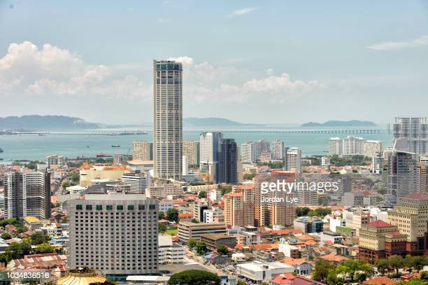 city of george town, penang - george town penang stock photos and pictures