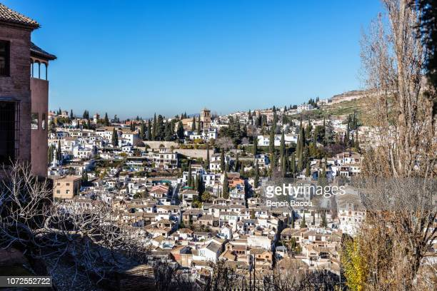 city of granada, andalucia, spain - albaicín fotografías e imágenes de stock