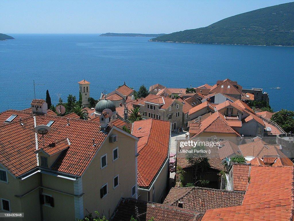 City of Herzog Novi, Montenegro : Stock Photo