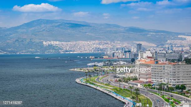 izmir city aerial view cityscape travel