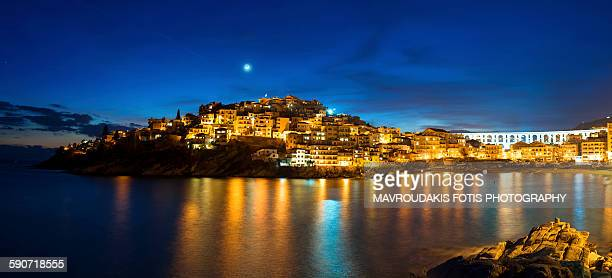 City of kavala at night