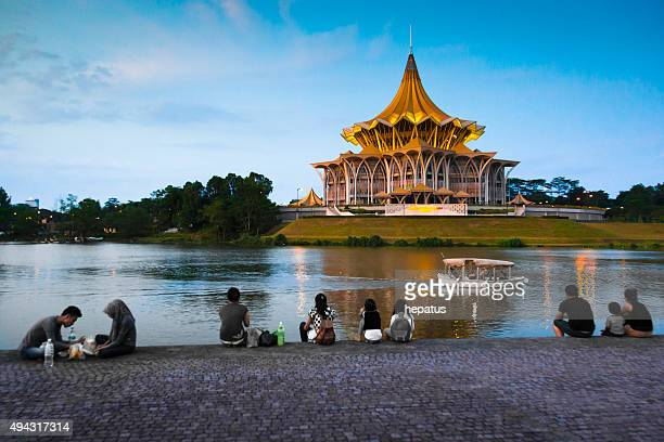 city of kuching - sarawak state stock pictures, royalty-free photos & images