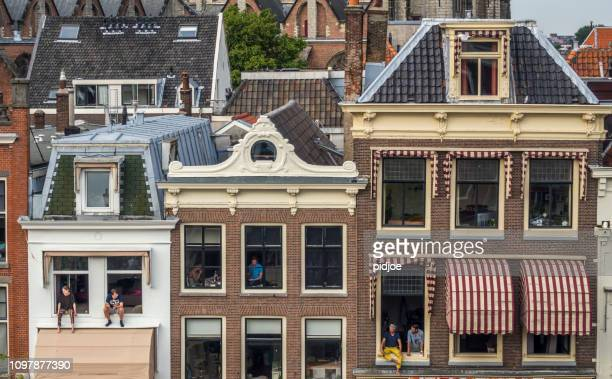 City of Leiden in the summer