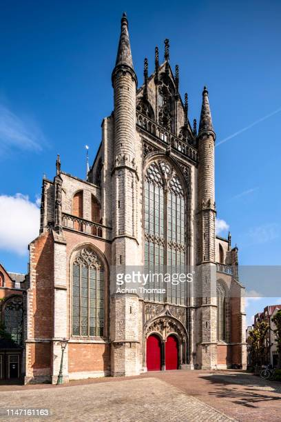 city of leiden, pieterskerk church, netherlands; europe - kirche - fotografias e filmes do acervo