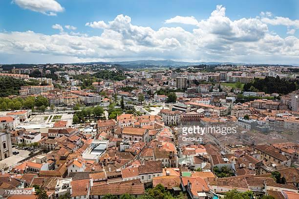 city of leiria aerial view, portugal - leiria district stock photos and pictures