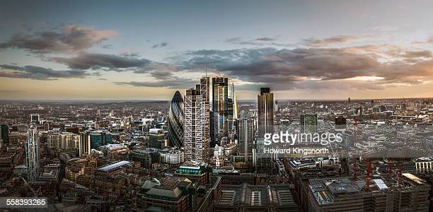 city of London aerial looking South