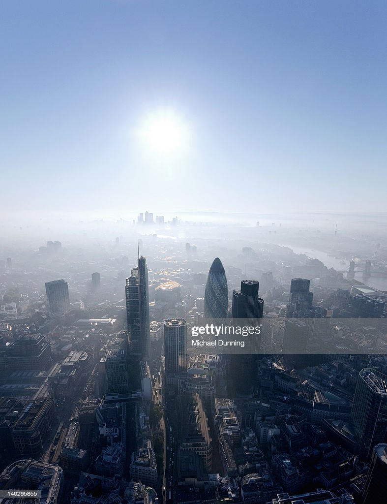 City of London aerial : Foto stock