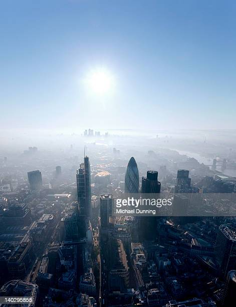 city of london aerial - dawn dunning stockfoto's en -beelden