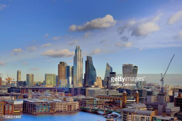 city of london aerial view - 2020 stock pictures, royalty-free photos & images