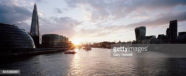 City of London and Shard at sunset