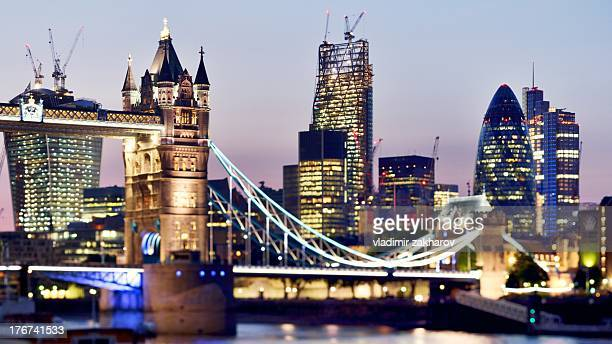 City of London and  Tower Bridge view