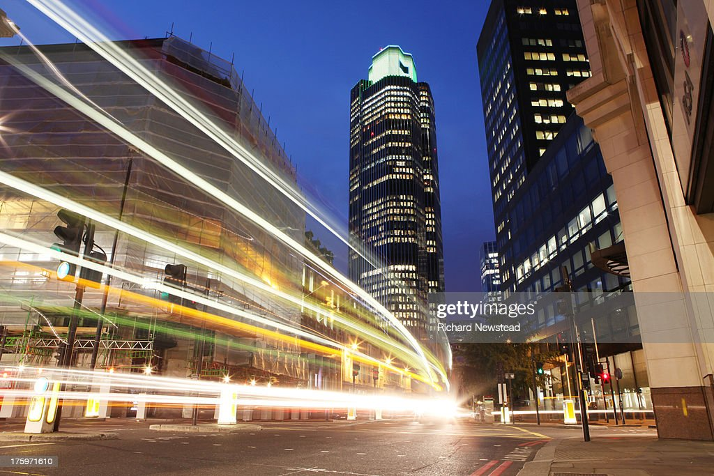 City of London at Night : Stock Photo