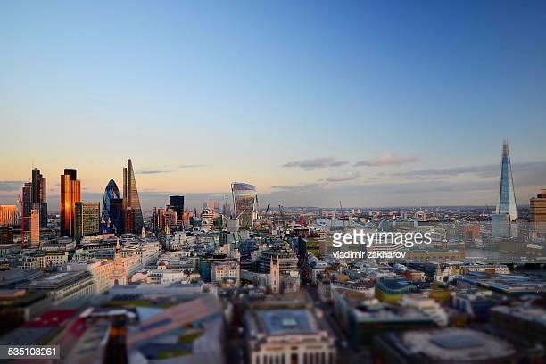 City of London brand new skyline 2014