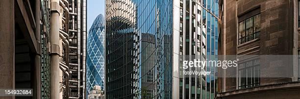City of London Innenstadt zum finanziellen Bezirk Wolkenkratzer panorama UK