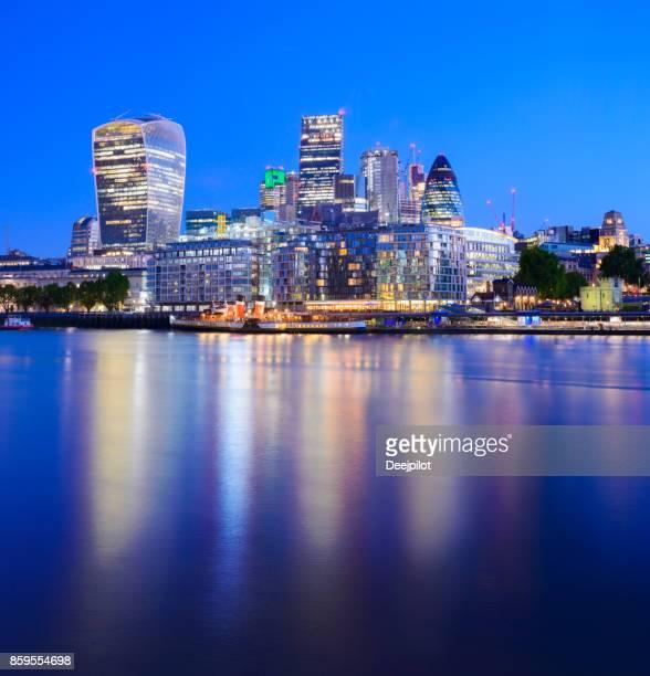 City of London Downtown Skyline at twilight, United Kingdom