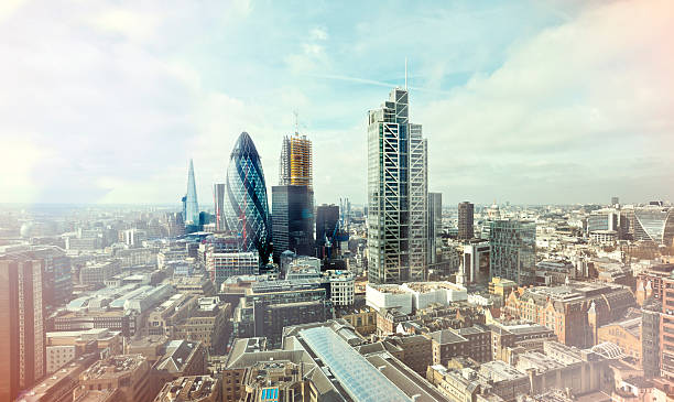 City Of London Elevated View Wall Art