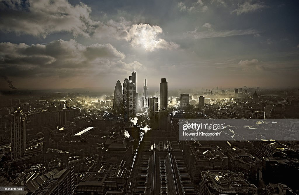 City of London facin South : Stock Photo