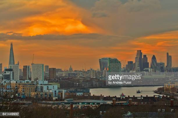 City of London from Greenwich, London, United Kingdom
