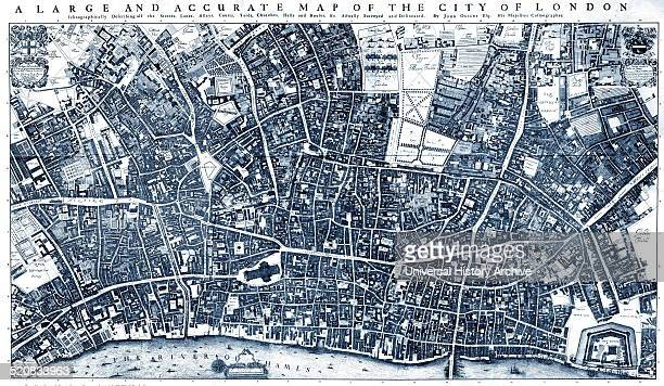 City of London' Map by Ogilby and Morgan 1677