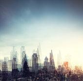 City Of London Multiple Exposure