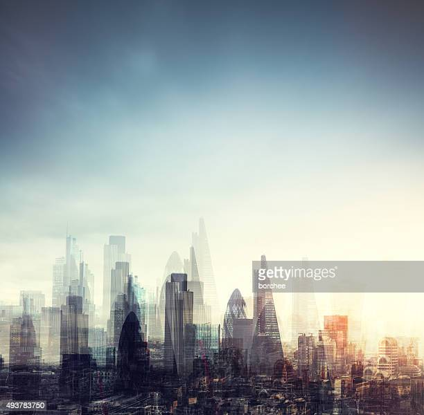 City Of London Multiple Exposure