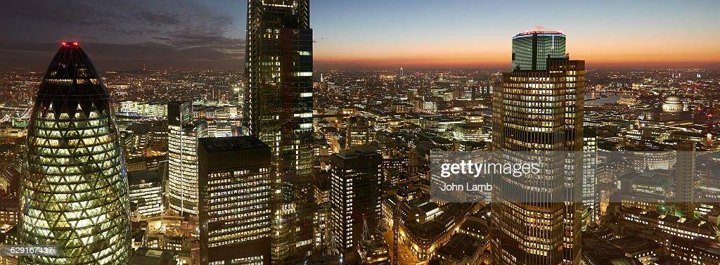 City of London panorama : Stock Photo