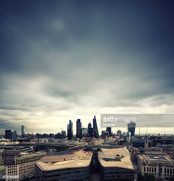 city of london - moody sky stock pictures, royalty-free photos & images