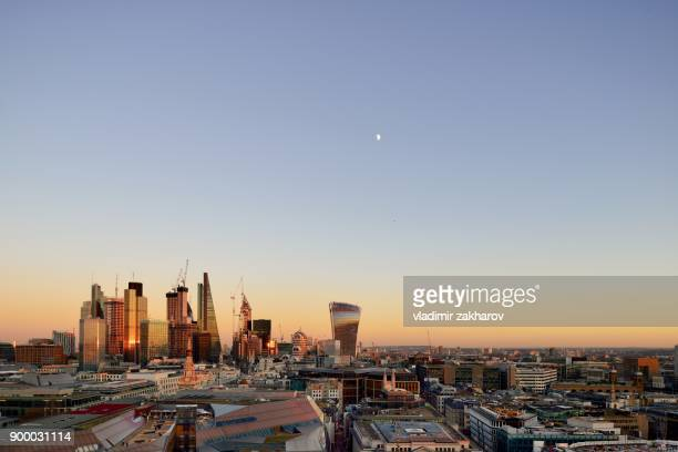 city of london skyline 2018 - 2018 stock pictures, royalty-free photos & images