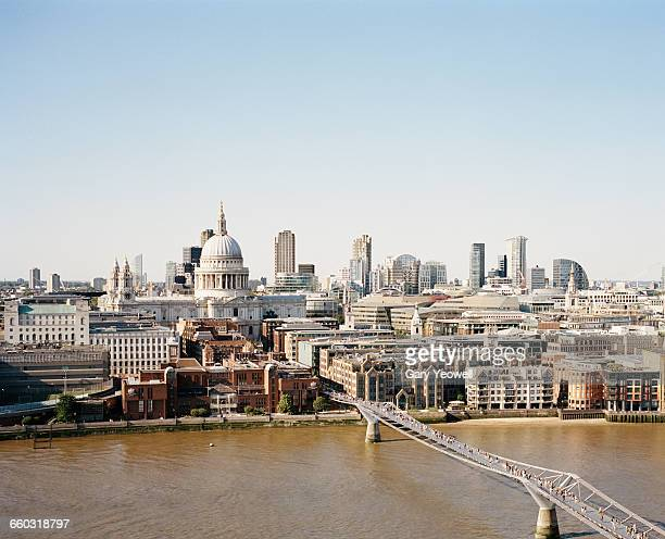 city of london skyline and st paul's - international landmark stock pictures, royalty-free photos & images