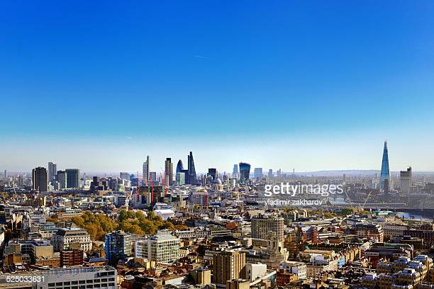 city of london skyline at morning - holborn stock pictures, royalty-free photos & images