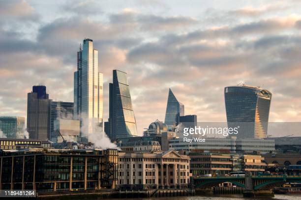 city of london skyline at sunrise - 2019 stock pictures, royalty-free photos & images