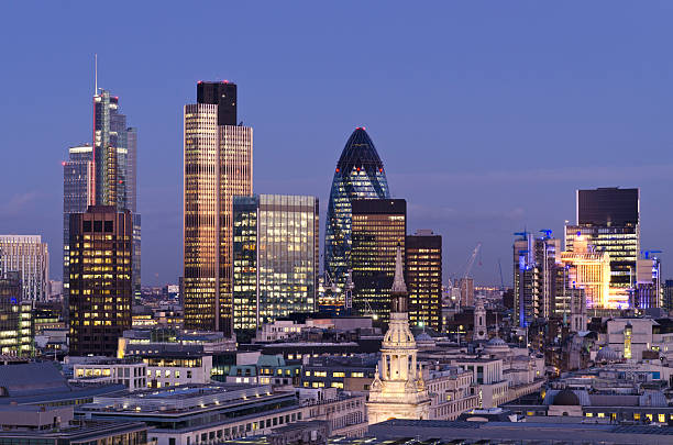 City of London skyscrapers at Dusk