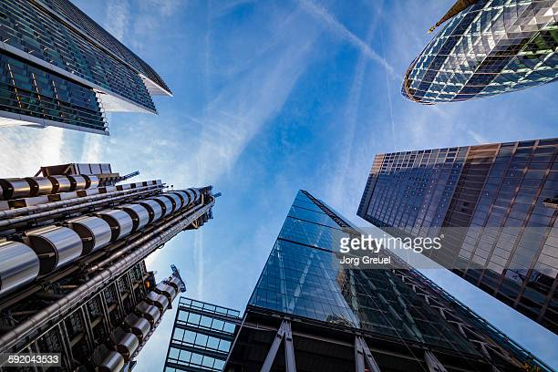 city of london skyscrapers - skyscraper stock pictures, royalty-free photos & images