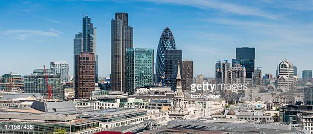 City of London Square Mile Financial District skyscrapers panorama