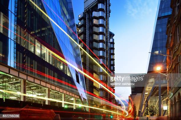 city of london streets - london financial district stock photos and pictures