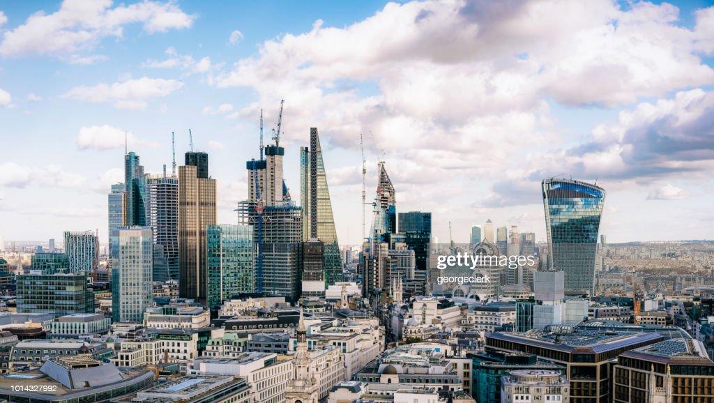 City of London - the UK's financial hub : Stock Photo