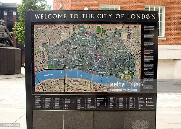 city of london tourist street map london