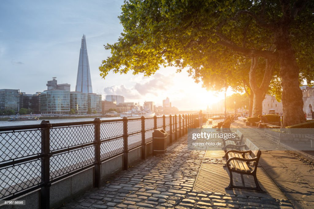 City of London, UK, Skyline and River Thames : Stock Photo