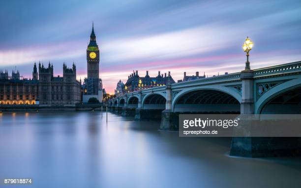 city of london, uk, westminster bridge with big ben - thames river stock pictures, royalty-free photos & images