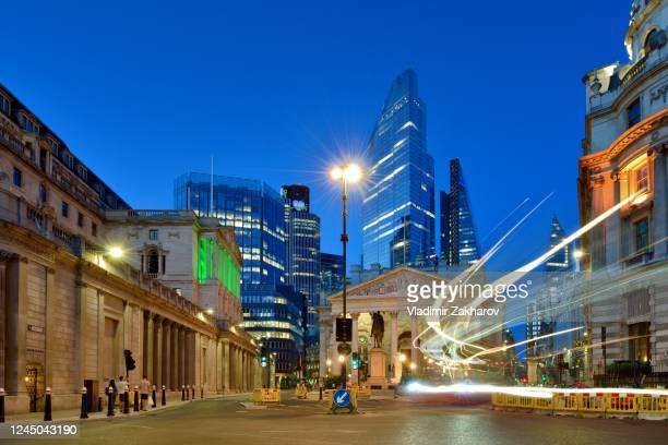city of london view at dusk - ward stock pictures, royalty-free photos & images